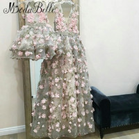 wholesale 3D Flowers Evening Dress Robe De Soiree Dubai A- li...