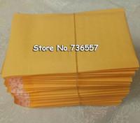 100pcs / lots 110 * 130mm Bubble Mailers Enveloppes rembourrées Emballage d'expédition Sacs Kraft Bubble postales Sacs enveloppe jaune
