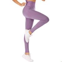 Брюки йоги бесшовные вязать хип влагопоглощение поглощения спортивные брюки сексуальные бедра женские леггинсы многоцветный