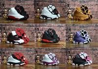 c332f26e4457 New Arrival. Kids Basketball Shoes 13S Sneakers for Children Black Cat  Chicago Golden ...