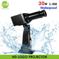 Impermeable al aire libre 30 W led logo proyector linterna logotipo personalizado lámpara de proyección luz tienda centro comercial imagen publicidad proyector
