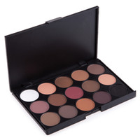 15 Colors Eyeshadow Palette Glitter Shimmer Matte Pearl Eyes...