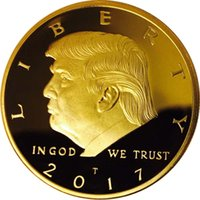 Donald Trump Gold Coin, Gold Plated Collectable Coin and Cas...
