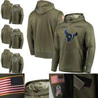 6ec67fc71 Wholesale salute service hoodies online - Men s Denver Detroit Green Bay  Houston Lions Packers Broncos
