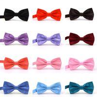 Галстуки-бабочки 39 цветов 12*6 см отрегулируйте пряжку сплошной цвет бантом профессиональный галстук-бабочка для рождественского подарка бесплатно галстук-бабочка