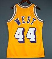 femmes coutume hommes jeunes Vintage Jerry Mitchell Ouest Ness 71 72 College Basketball Jersey Taille S-4XL ou sur mesure tout maillot de nom ou le numéro