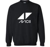 Música DJ Avicii Impreso Pullover Sudaderas con capucha Hombres Moda Sudadera de algodón Casual Hip Hop Harajuku Fleece Sudaderas Cuervas Hombres Ropa