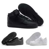 Scarpe da skateboard per Uomo Donna Alta Qualità One 1 Scarpe casual Low Cut All White Colore Nero Casual Sneakers US 5.5-12