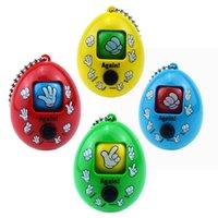 혼합 스타일 모라 게임 키 체인 바위 종이 가위 재생 장난감 키 체인 얼굴 인형 열쇠 고리 라운드 계란 키 체인 C2206