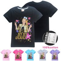 Jojo siwa niños camisetas 6 colores 4-12 años niñas 100% algodón t shirts manga corta tshirts niños diseñador ropa SS103