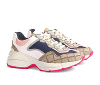 Damen Herren Rhyton beiläufige Schuh-Klassiker Paris Dad Plattform-Leder-Schuh-Turnschuhe starke untere Dad Sneaker Schuhe