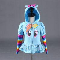 Winter 2019 Mädchen Hoodies Meine kleinen Kinder Sweatshirt Jacken Baby Hoodie Niedlichen Pony Design Windjacke Sport Blazer Oberbekleidung 8Y