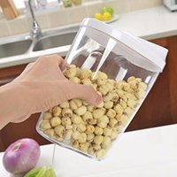 5Piece blocco di plastica trasparente acrilico Food Storage Jars Taniche Bottiglie Set con Airtight coperchi per zucchero per tè e caffè Rice Kitchen Magazzino