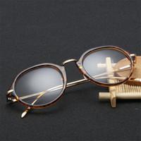 Femmes Femmes Hommes Miroir plat Rétro Lunettes de vue Clear Opticien Cadre dédié Anti-UV Eyewear