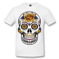 4a4fff9e New Arrival. SKULL TATTOO Mens T-Shirt Skull Rock Day of the Dead Biker Goth  Sugar ...