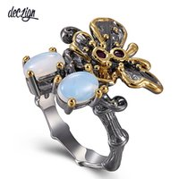 Deczign Hot Pick! Butterfly Antique Rings for Women Gothic S...