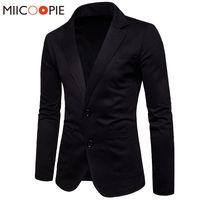 Marque Blazer Hommes Costume 2018 Hommes Blazer Veste Corée Style Deux Boutons Coton Slim Fit Blazers Costume Veste Homme XXL