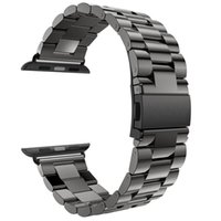 Band 42mm Black Gold Stainless Steel Bracelet Buckle Strap C...