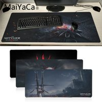 Maiyaca witcher logo Unico gioco Pad per PC Mousepad Grande Lockedge alfombrilla gaming Mouse pad gamer PC Tappetino per computer