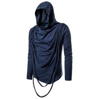 unique 2019 European long sleeve hooded pullover Men' s ...