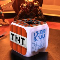Touch light 2015 Alarm Clock con figuras de juguete de acción anna LED de juguete cars2 Toys