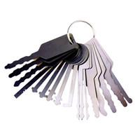 Jigglers selezionamento auto (16 Pezzi) Tryout Tasti per Auto - Master Key Serrature Auto Jigglers macchina pick apriporta per Automotive