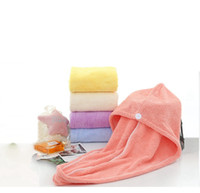 Shower Caps Magic Quick Dry Hair Hat High Quality Lady Turban Wrap Hat Caps Microfiber Towel Spa Bathing Caps HHA1192