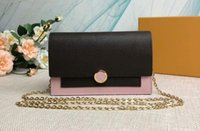 Realfine888 5A M67405 17.5cm Flore Chain Wallet With Metal Chian Shoulder Bag,With Dust Bag,DHL Free Shipping