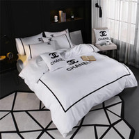 White Queen King Size Bedding Sets New Fashion Brand All Cot...