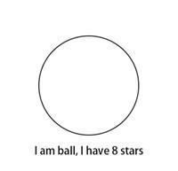 Je suis patch soccer ball Je 8 étoiles dans le coeur, je suis ligne bleue avec honneur, je suis avec le centre blanc côté jaune, je aime Europa me appeler E-A-L