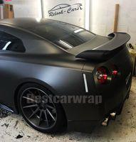 Cromo negro mate envoltura de vinilo para el abrigo del coche entero peinado que cubre 1.52x20m tamaño de hoja / rollo 4.98x66ft
