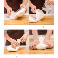 Qualité alimentaire silicone Pétrissage Sac 2 Taille sans coller les mains et le sac de nouilles Artefact Outils de cuisson XD23311 Proofing