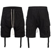 Shorts pour hommes New Summer Style Ribbon Short Pants Short Street Pure Color Short Pour Homes Hommes Straight Barrel Loose Shorts