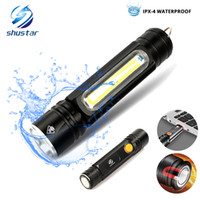 Multifunctional LED Flashlight USB Inside rechargeable batte...
