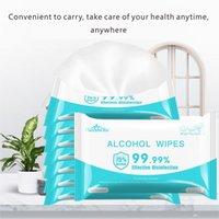 50PCS / paquet lingettes désinfectantes Pads d'alcool pour les téléphones mobiles Lunettes de manucure lingettes d'alcool pour le nettoyage