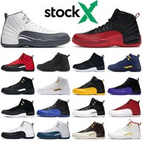 Mens basketball shoes 12s trainers Flu Game Dark Concord gre...