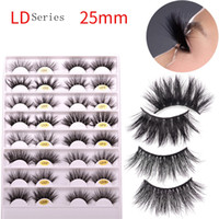 3D Mink Eyelash 5D 25mm Long Thick Cross Mink Lashes Handmad...
