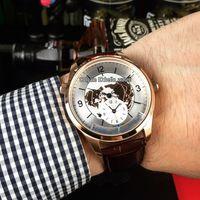 Новый Master Control Geophysic Master Geographic 1428530 Белый циферблат Автоматические мужские часы Розовое золото Корпус Кожаный ремешок Гентские часы Hello_watch