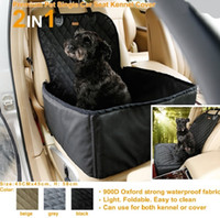 Nueva bolsa impermeable para perros Pet Car Carrier Dog Carry Storage Bag Pet Booster asiento para viajar 2 en 1 Carrier Bucket Basket