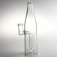 Neue 14mm weibliche bierflasche glas becher bong mit 7,5 zoll dicken berauschenden glas tupfen rigs wasserrecycler bongs für pfeifen