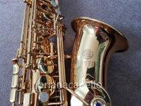 Юпитер JAS-767 Alto Saxophone EB Tune E плоский латунный высококачественный золотой лак SAX производительность музыкального инструмента с аксессуарами