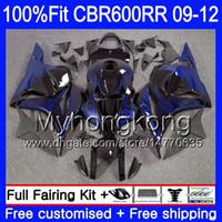Inyección para HONDA CBR 600RR CBR600 RR 2009 2010 2011 2012 Llamas azules NUEVO 282HM.27 CBR 600 RR 600F5 F5 CBR600RR 09 10 11 12 Carenados