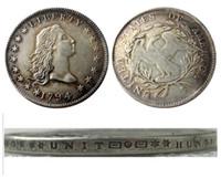 US 1794 fließende Haardollar Silber überzogene Kopie Münzen Metall Handwerk für Herstellung Fabrikpreis