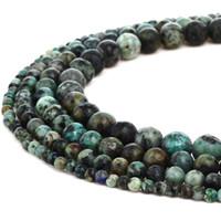 Naturstein Afrikanische Türkis Perlen Runde Amethyst Edelstein Lose Perlen für DIY Armband Schmuck Machen 1 Strang 15 Zoll 4-10 mm