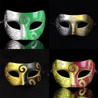 Maschere di Halloween principe barone festa danzante performance faccia copertina greco antico Roma Spray vernice facce d'epoca anticata cappuccio 1gn L1