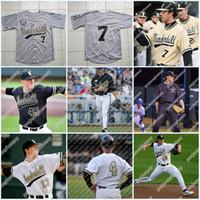 Costurado Vanderbilt Commodores Desempenho 51 J.J Bleday 3 Cooper Davis 16 Austin Martin 7 Dansby Swanson NCAA Baseball Jersey