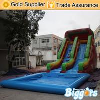 Slide inflável da água do jogo de água inflável do tamanho grande do tamanho grande para o parque de diversões