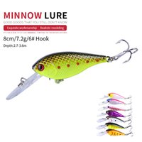 NEWUP 7pcs 7.2cm 8g Quality Minnow Pescaria Fishing Lure 3D Eye Bass Topwater Hard bait crankbait wobblers For fishing tackle