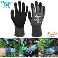 Садовые перчатки Женщины Мужчины 1 пара садовые перчатки с нитриловым покрытием защищают от порезов и грязи дышащий эластичный нейлон