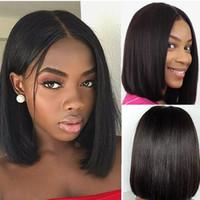 Perruques cheveux naturels Couleur style perruque courte bob brésilien cheveux